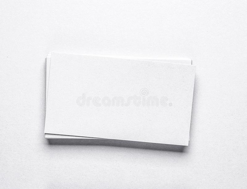 Stack Of Black Blank Business Cards Stock Photo - Image of clear ...