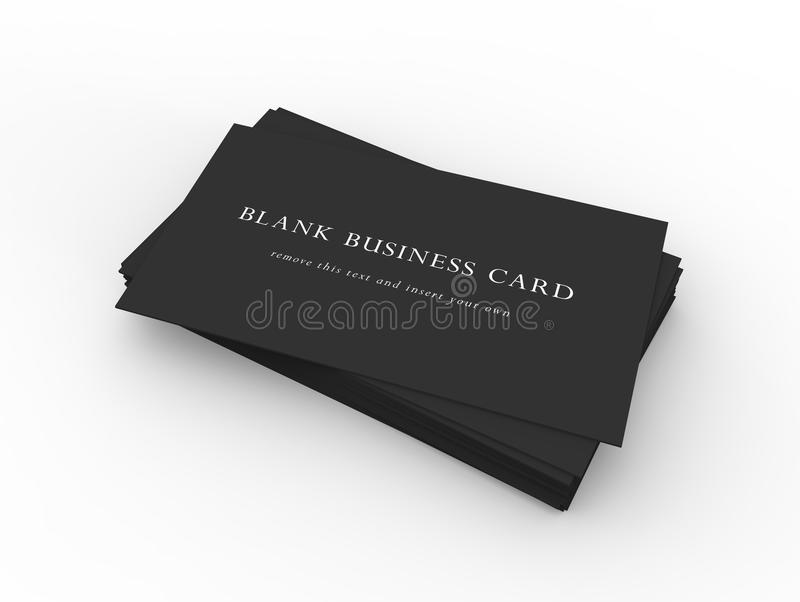 A Stack Of Black Business Cards Stock Illustration - Illustration of ...