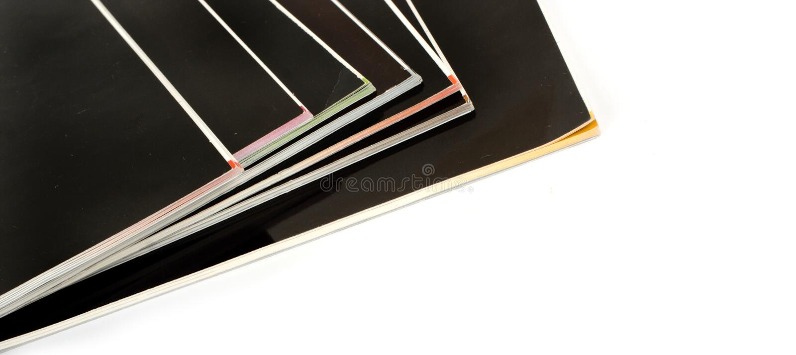 Download Stack Of Black Covered Magazines Royalty Free Stock Image - Image: 14835286