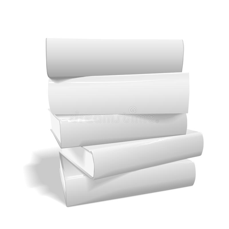 Stack of blank books royalty free illustration
