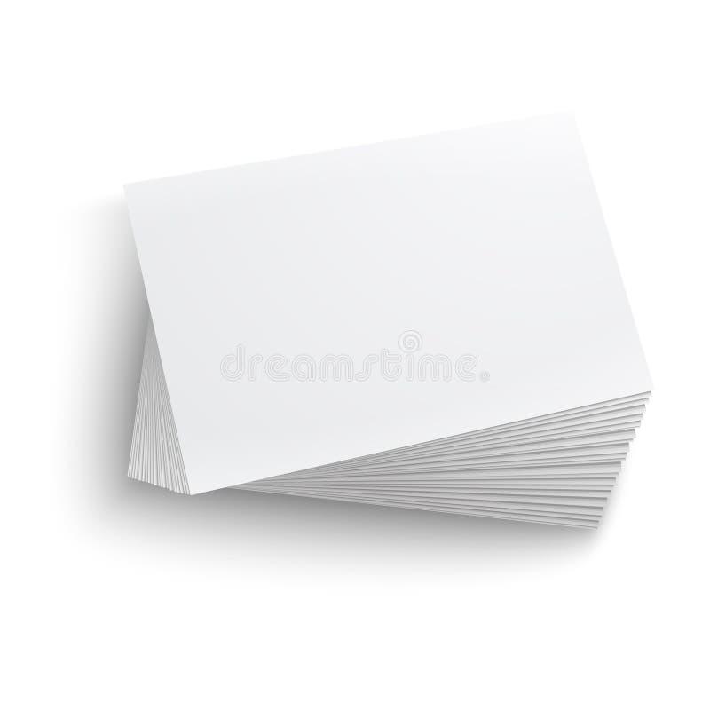 Download Stack Of Blank Business Card. Stock Illustration - Illustration of detailed, pile: 33431158