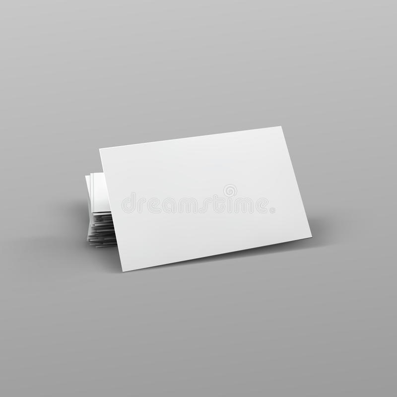 Stack of blank business card. royalty free illustration