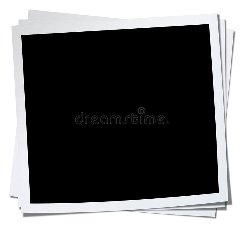 Stack Blank Photo. stock photo