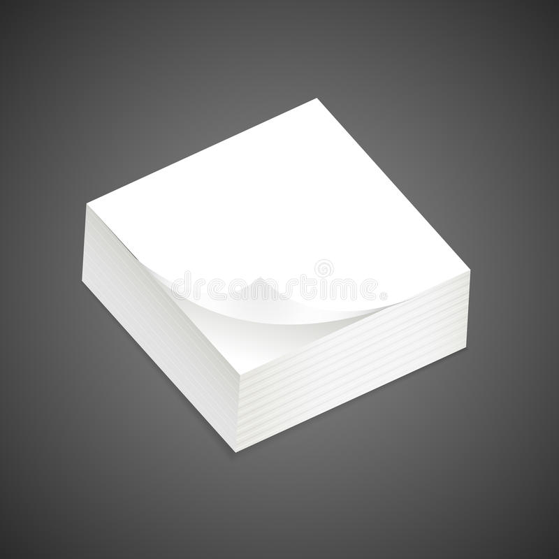 Stack of blank sticky note royalty free stock photography