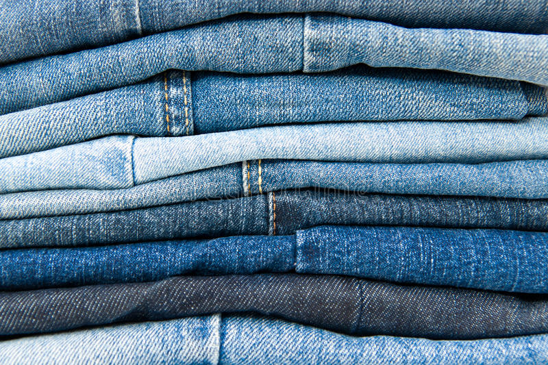 Download Stack Of Blue Jeans Royalty Free Stock Image - Image: 22087966