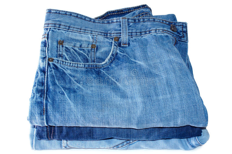 Download Stack Of Blue Jeans Outerwear. Stock Photo - Image: 11409860