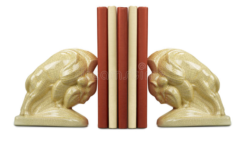 Download A Stack Of Book Between Bookends Stock Photos - Image: 23512333