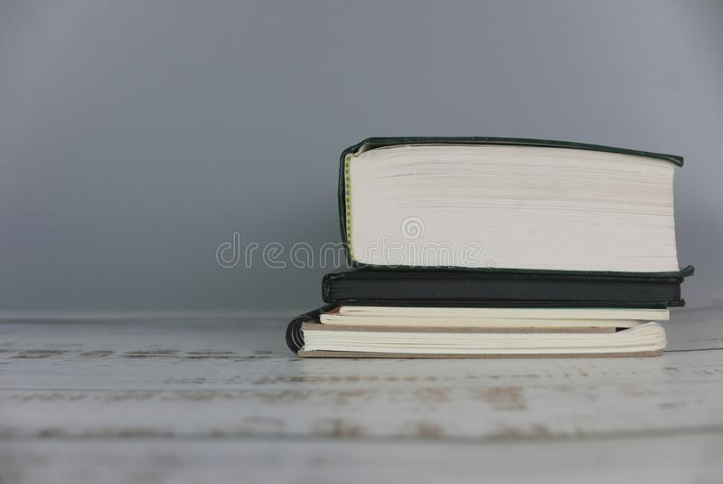 Stack of book. Education concept. Copy space for text or logo. School, university, knowledge, study, college, learning, student, library, business, graduation stock photos