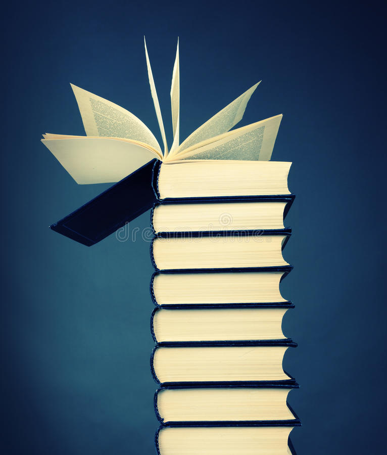 Download Stack of books stock image. Image of literature, paper - 27021631