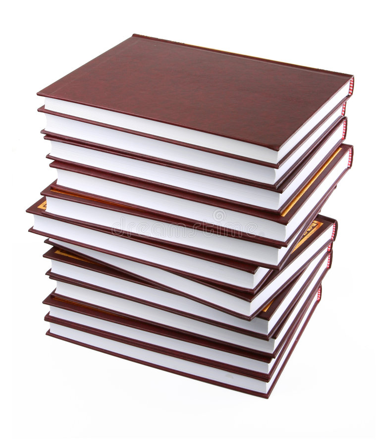 Download Stack of books stock photo. Image of hardback, white, objects - 4168456
