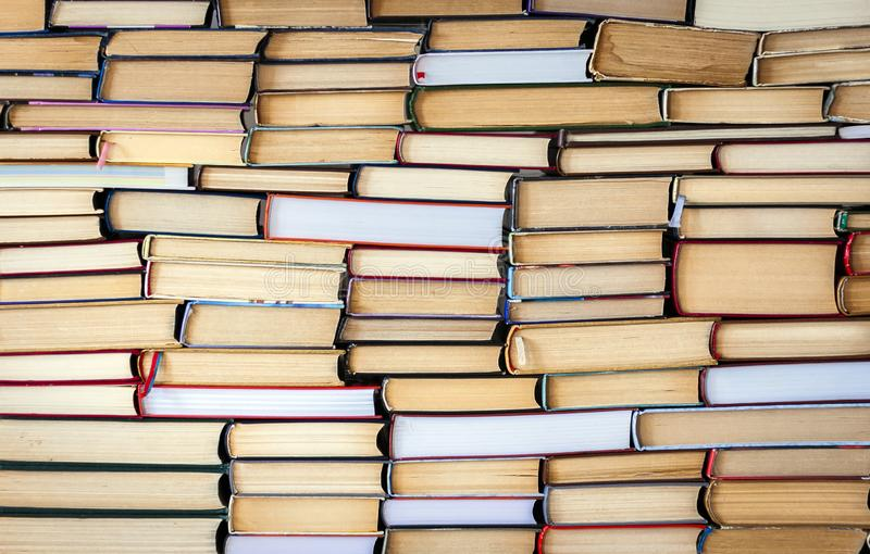 Stack Of Books Education Concept Background, Many Books Piles Stock Photo -  Image of archive, concept: 135465096