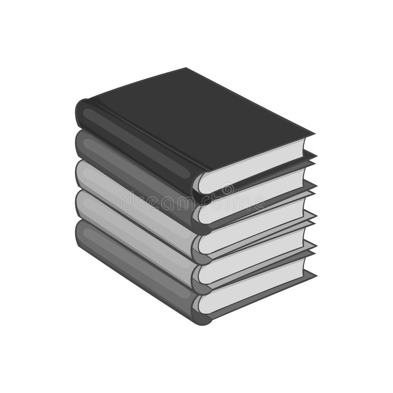 Stack of books icon, black monochrome style royalty free illustration