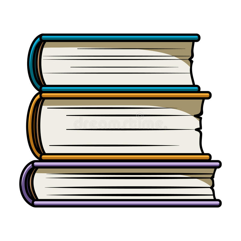 stack of books icon in cartoon style isolated on white background rh dreamstime com cartoon image of stack of books Clip Art Stack of Books