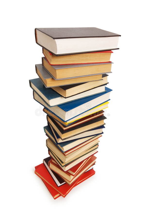 Download Stack of books isolated stock photo. Image of order, school - 6099070