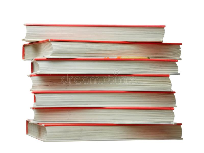 Stack of books isolated. On white stock images