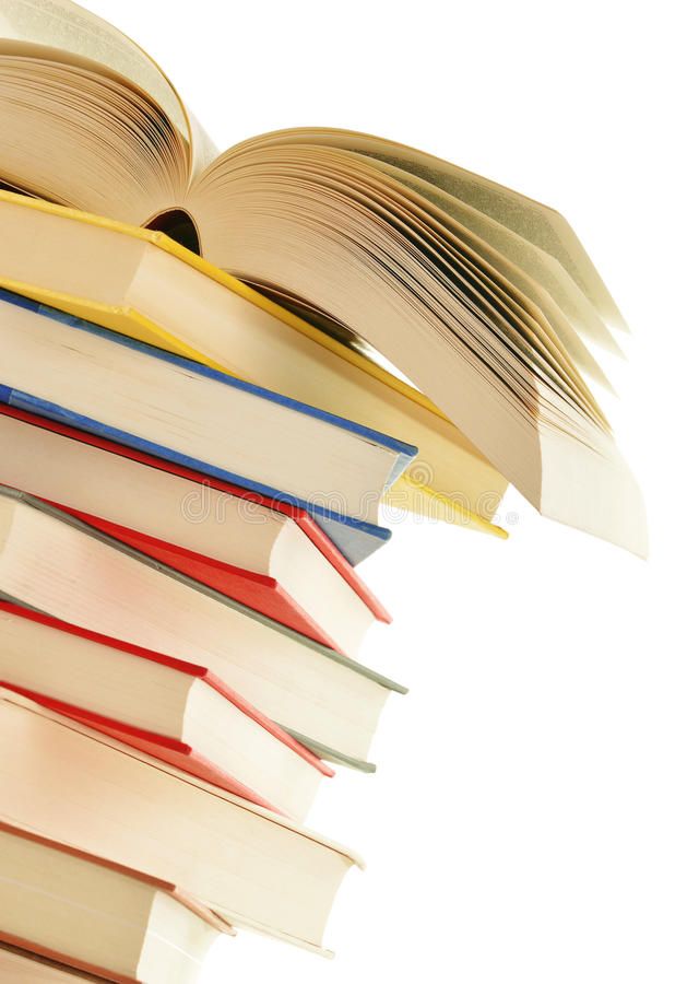 Stack Of Books Isolated On White Stock Photos