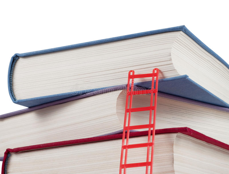 Download A Stack Of Books With A Ladder Stock Photo - Image: 24562696