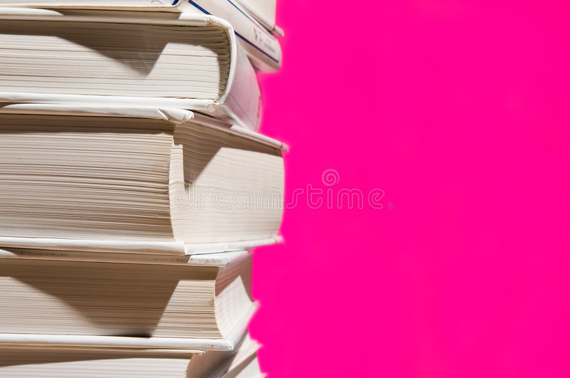 Download Stack Of Books On Pink Stock Photography - Image: 6519922