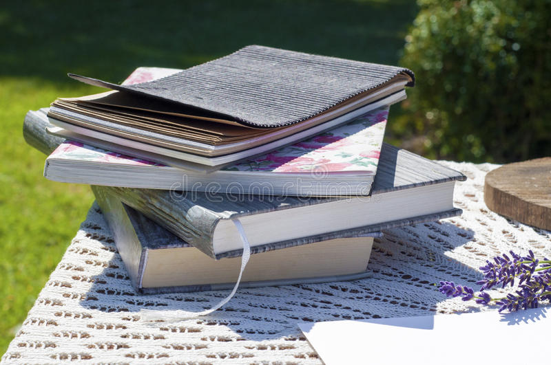 A stack of books. royalty free stock photos
