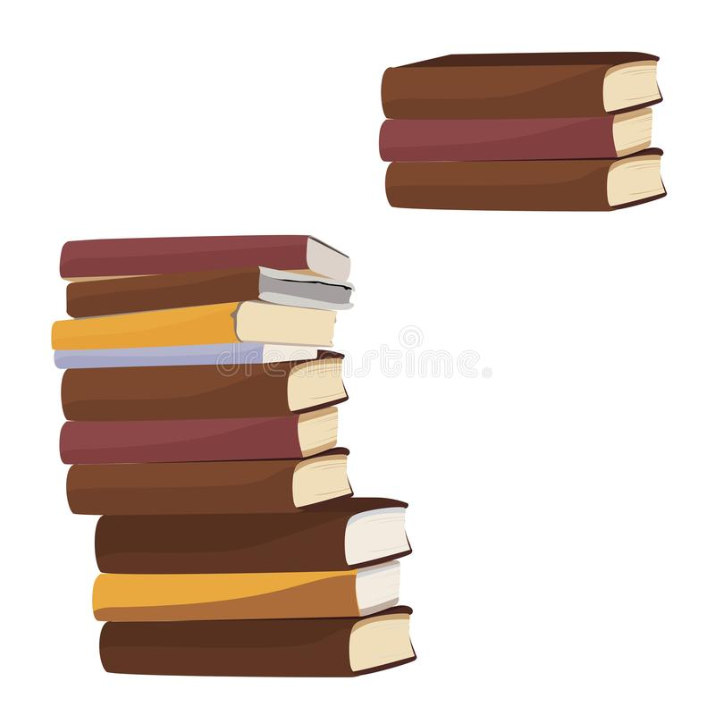 Stack of books. Vector illustration royalty free stock photography