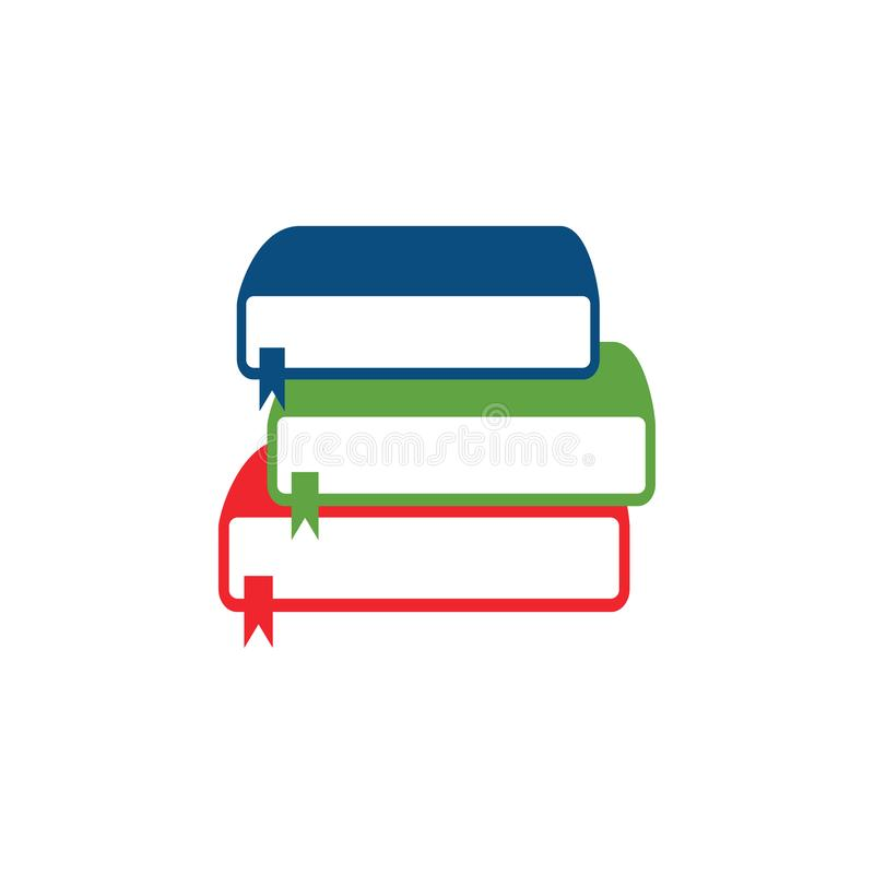 Stack of books vector. Illustration royalty free illustration