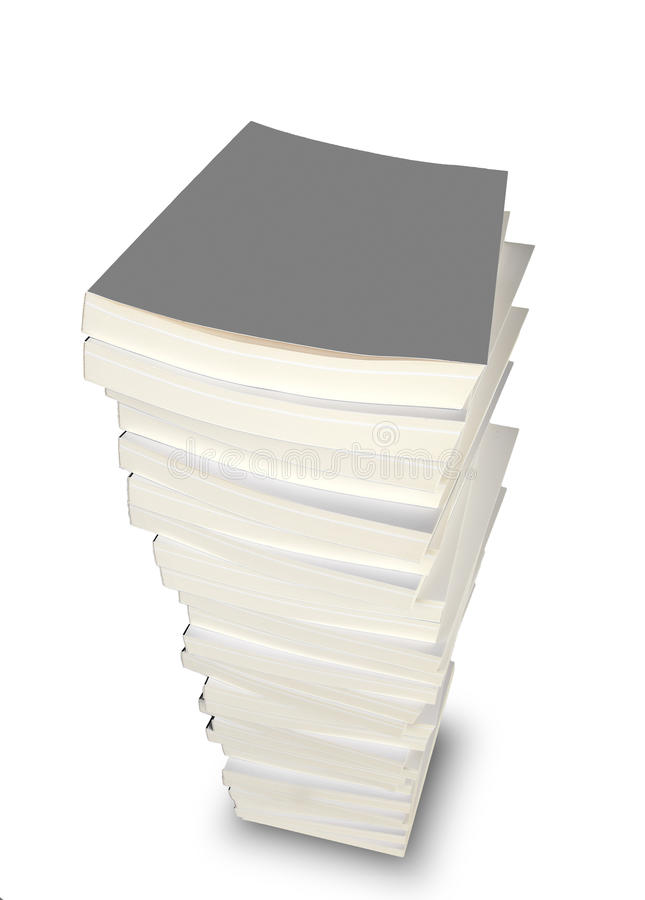 Stack of books. On white royalty free stock photo