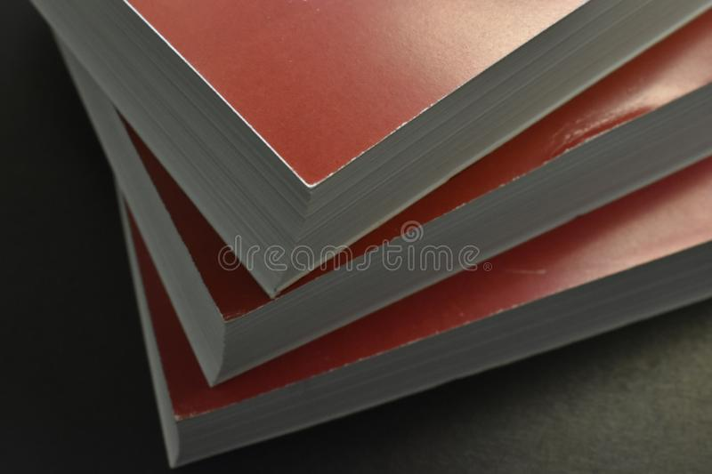 Stack of books, white sheets. royalty free stock photos