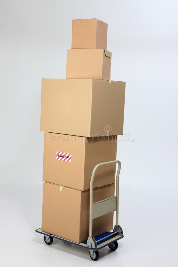 Stack of boxes royalty free stock image