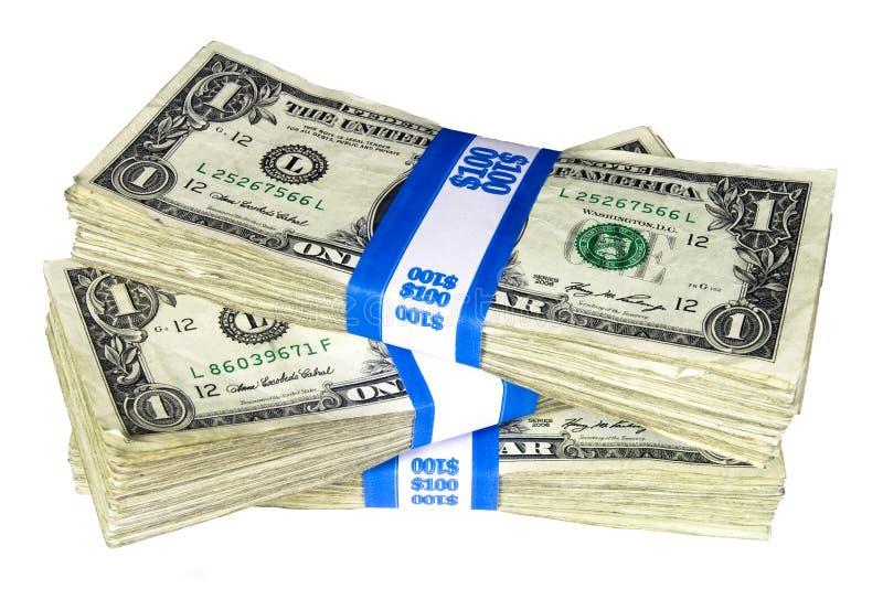 Download Stack Of Bundled One-Dollar Notes Stock Image - Image: 11032179