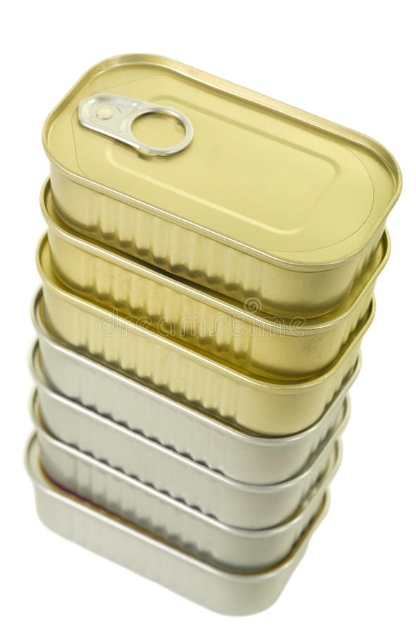 Stack of Canned Goods royalty free stock images