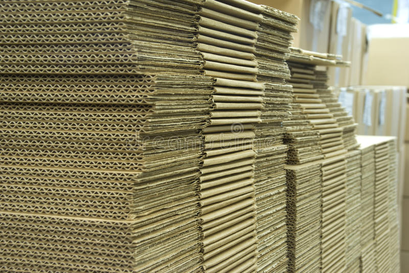 The stack of cardboard