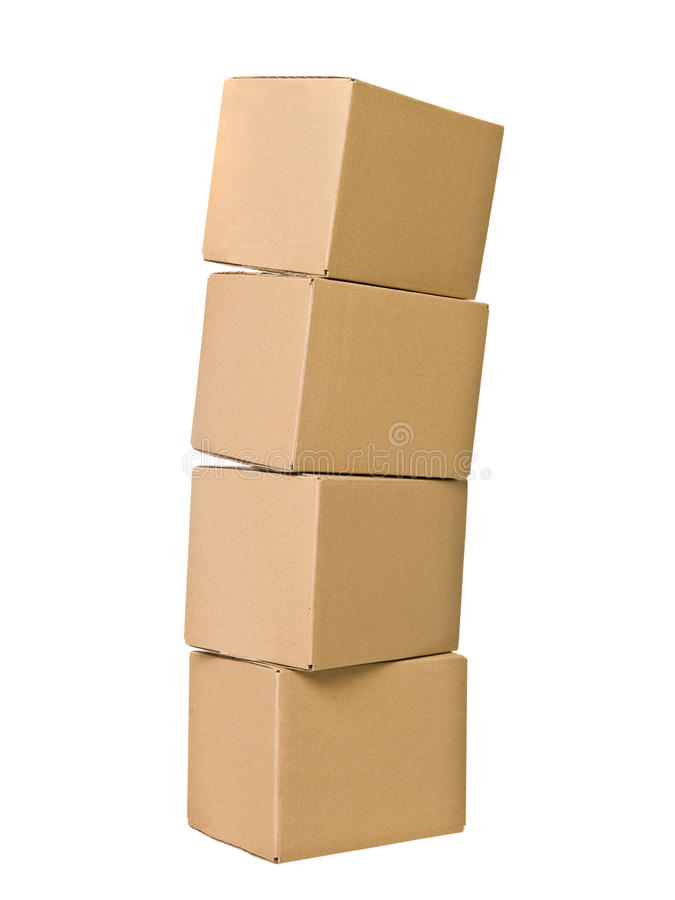 Stack of Cardboard Boxes royalty free stock photos