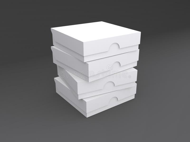 Stack of cardboard boxes stock illustration