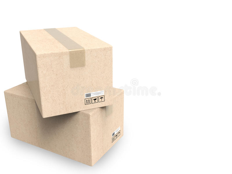 Stack of carton boxes royalty free stock images