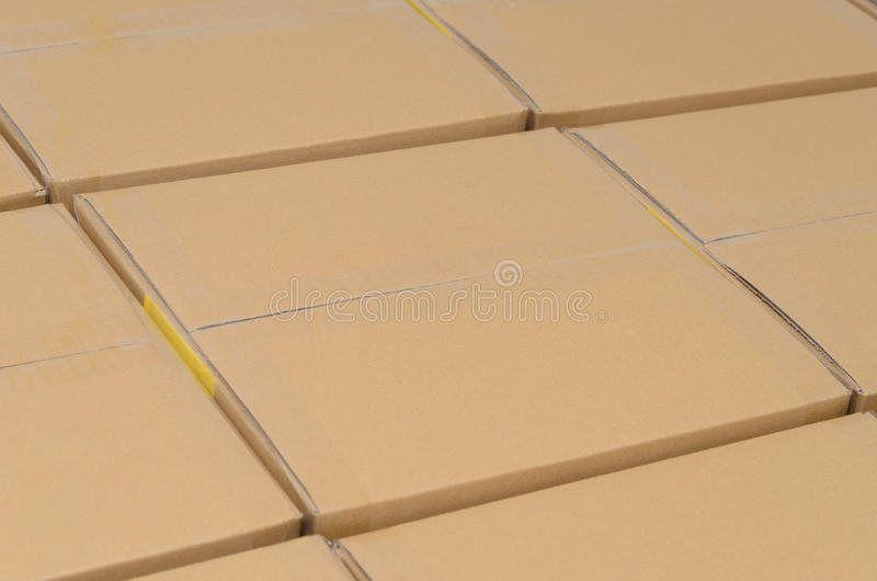 Stack Of Carton Boxes Package Royalty Free Stock Photo