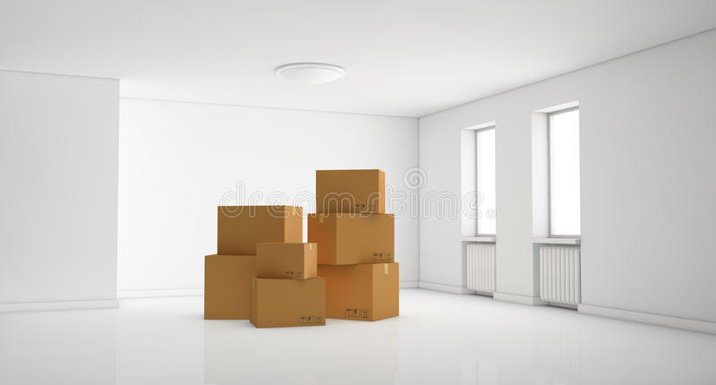 Download Stack of cartons stock illustration. Image of relocation - 23365292