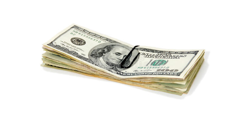 Stack of cash stock photo