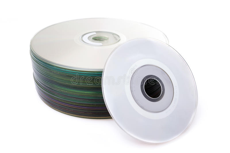 Download Stack Of Cd Or DVD  On White Background Stock Photo - Image: 30284920