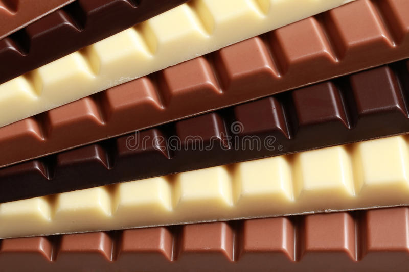 Stack of chocolate royalty free stock images