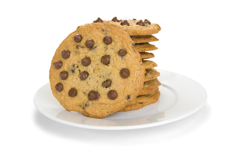 Download Stack of Chocolate Cookies stock photo. Image of white - 12864180