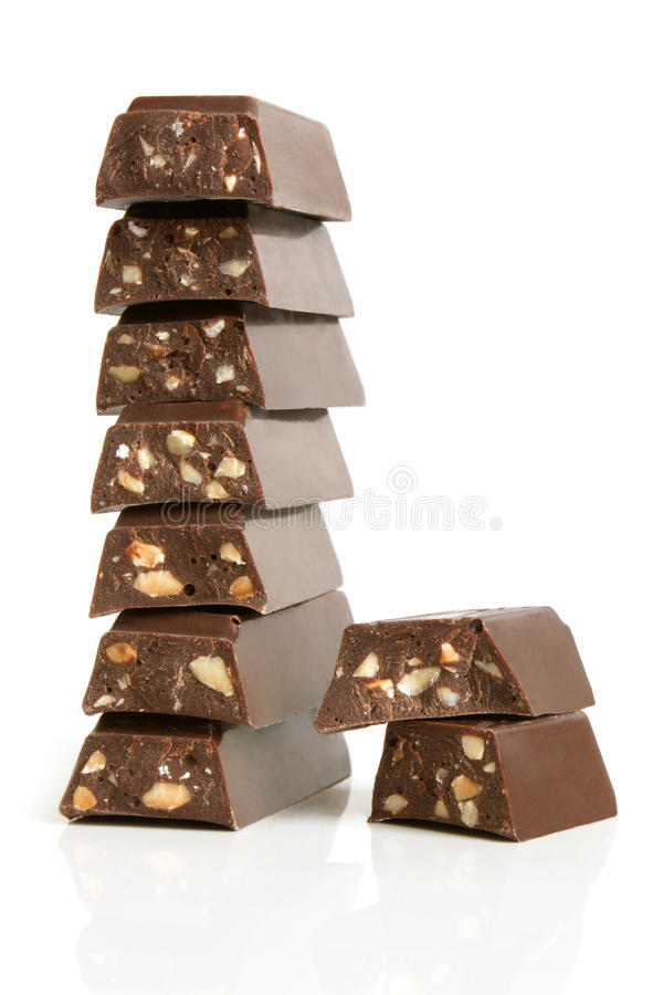 Download Stack Of Chocolate Pieces Royalty Free Stock Photography - Image: 17177247