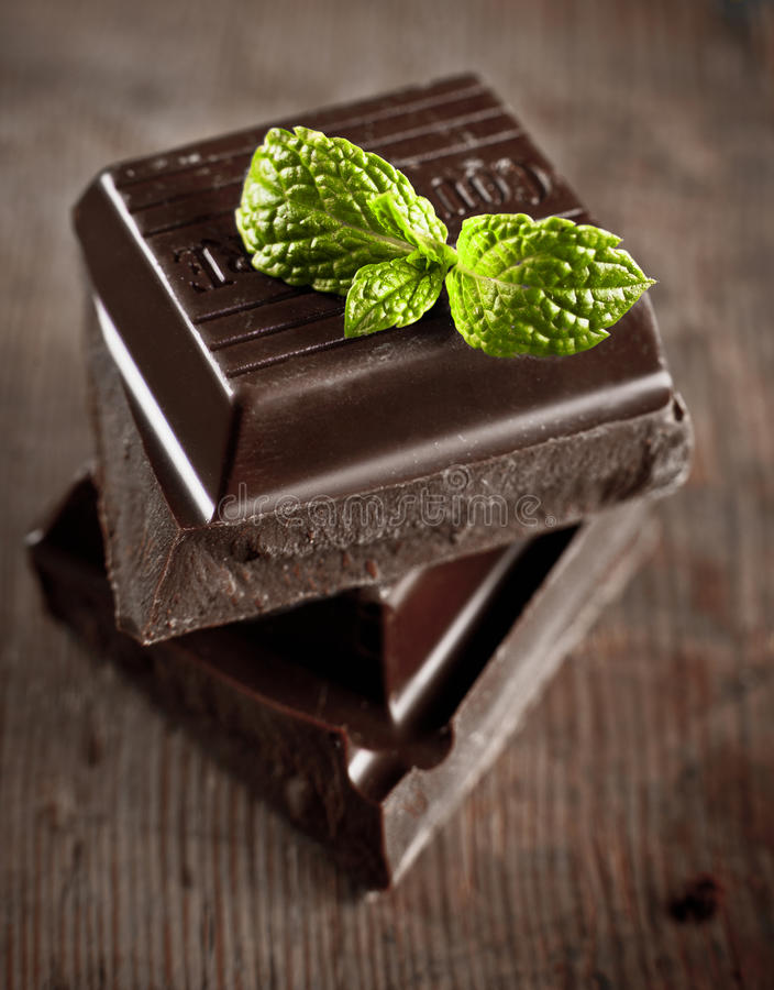 Download Stack of chocolate pieces stock image. Image of food - 23022003