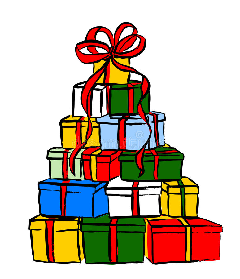 stack of christmas gifts stock vector illustration of illustration rh dreamstime com christmas gifts clipart png christmas gifts clipart free