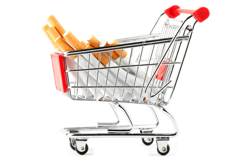 Download Stack Of Cigarettes In The Shopping Cart Stock Image - Image: 22717893