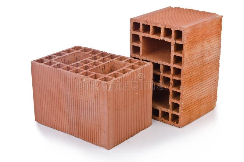 Stack of clay bricks royalty free stock image