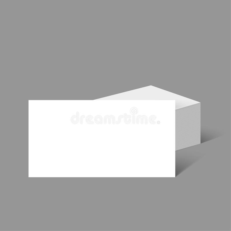 Stack of clean business cards. Corporate Identity. Isolate on white background. Layout for your design royalty free illustration