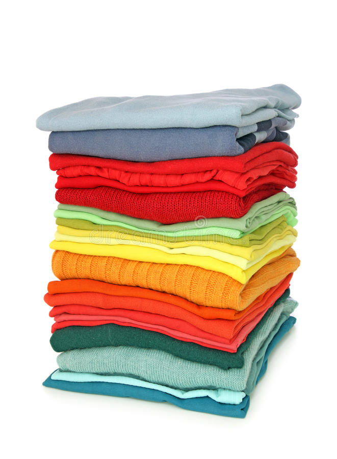 Download Stack of clothes stock photo. Image of green, laundry - 10426030