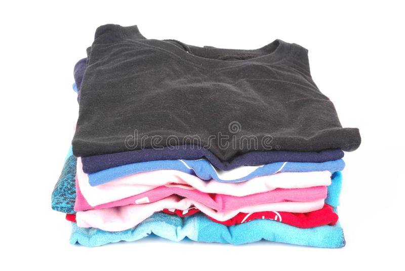 Download Pile of pressed clothes stock photo. Image of fashion - 25252404