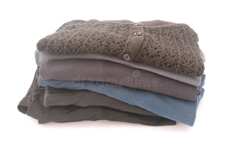 Download Stack of clothes stock image. Image of shirt, piled, heaps - 4370439
