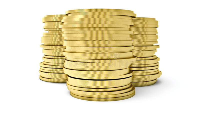 Download A stack of coins stock illustration. Illustration of industry - 22538604